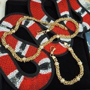 Jewelry - Italy Gold 925 Necklace & Bracelet Set